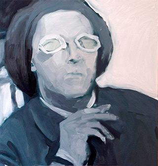 Katarzyna Swinarska : Witkacy : Oil on Canvas