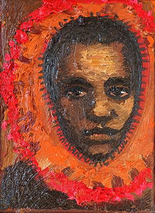 Katarzyna Karpowicz : Mardi Gras Indian : Oil on Canvas