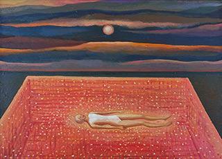 Katarzyna Karpowicz : Red hot pool : Oil on Canvas
