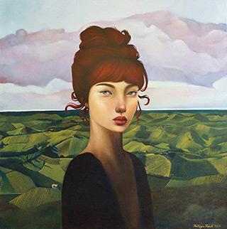 Katarzyna Kubiak : Portrait in a landscape : Oil on Canvas