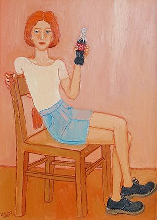 Krzysztof Kokoryn - Redhead with a bottle of Coca Cola