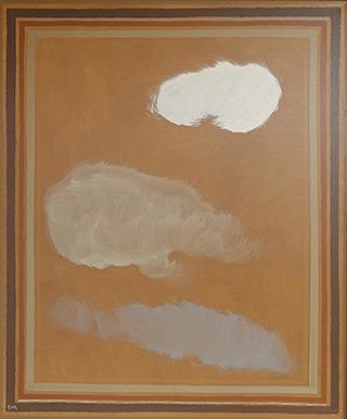 Łukasz Majcherowicz : White cloud : Acrylic on canvas