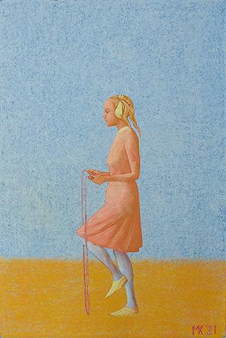 Mikołaj Kasprzyk : Jumping rope : Oil on Canvas