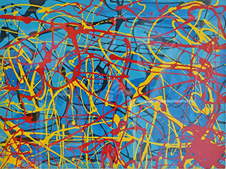 Edward Dwurnik - Abstract composition