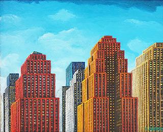 Adam Patrzyk : Skyscrapers : Oil on Canvas