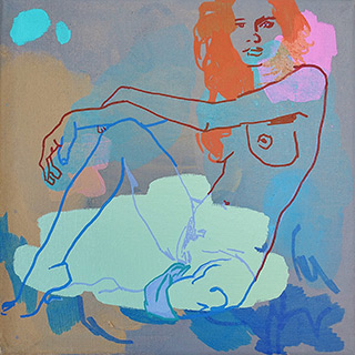 Agnieszka Sandomierz : Moment before : Tempera on canvas