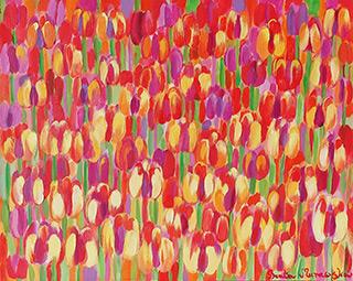 Beata Murawska : April is hot : Oil on Canvas
