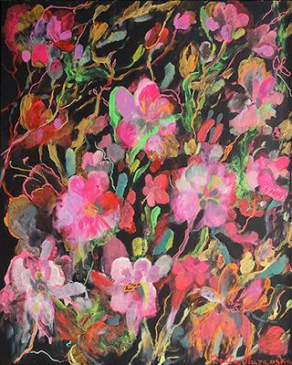 Beata Murawska : Crazy garden : Oil on Canvas