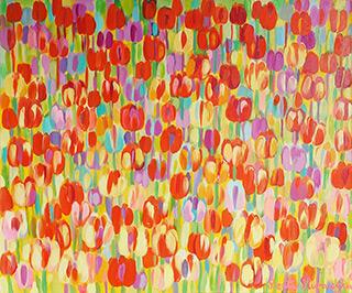 Beata Murawska : Delicious tulips : Oil on Canvas