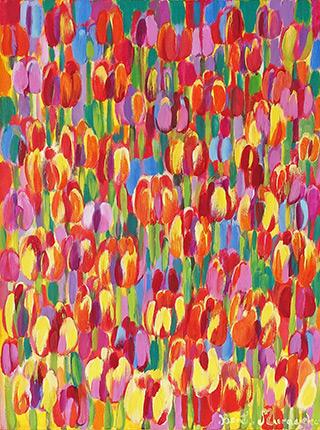 Beata Murawska : Erotic tulips : Oil on Canvas
