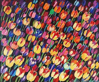 Beata Murawska : The rise of the tulips : Oil on Canvas