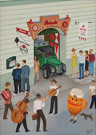 Krzysztof Kokoryn : Beer company : Oil on Canvas