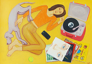 Krzysztof Kokoryn : In a yellow mood : Oil on Canvas