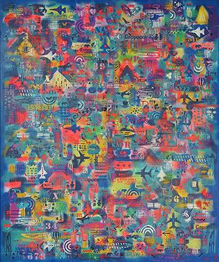 Krzysztof Pająk : Flight no 1269 : Oil on Canvas