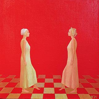 Mikołaj Kasprzyk : Symmetry No 2 : Oil on Canvas