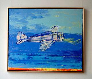 Jacek Łydżba : Plane : Oil on Canvas