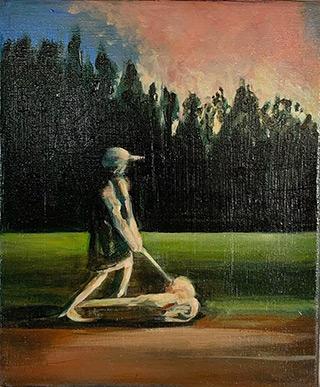 Julia Medyńska : Near the forest : Oil on Canvas