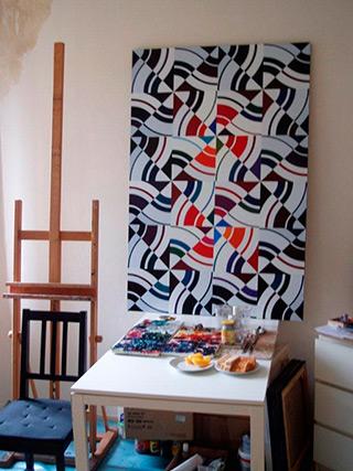 Małgorzata Jastrzębska : Painting 245 : Oil on Canvas