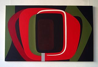 Anna Podlewska : Red : Oil on Canvas