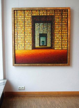 Adam Patrzyk : Grand library : Oil on Canvas