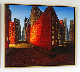 Adam Patrzyk : Red corner : Oil on Canvas