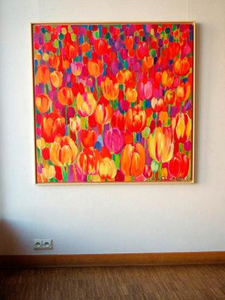 Beata Murawska : Hot tulips : Oil on Canvas