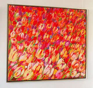 Beata Murawska : Windy tulips : Oil on Canvas
