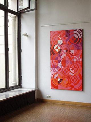 Małgorzata Jastrzębska : Vertical pink : Oil on Canvas