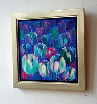 Beata Murawska : Blue tulips : Oil on Canvas