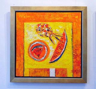 Darek Pala : Still life orange : Oil on Canvas