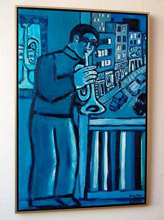 Krzysztof Kokoryn : Kind of blue : Oil on Canvas
