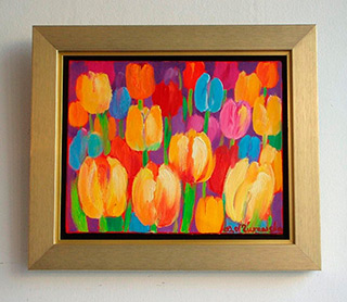 Beata Murawska : Tulips : Oil on Canvas