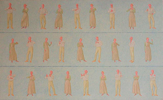Mikołaj Kasprzyk : Sign language : Oil on Canvas
