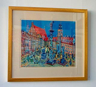 Edward Dwurnik : Royal castle in Warsaw : Tempera on Paper