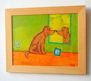 Krzysztof Kokoryn : Dog and the miror : Oil on Canvas