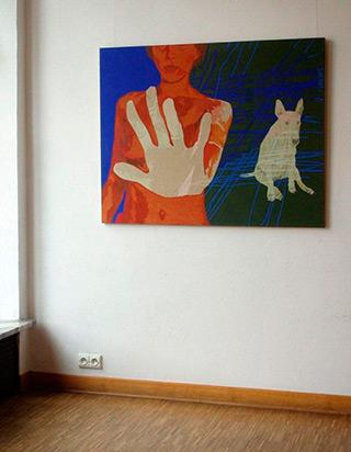 Agnieszka Sandomierz : Look out! : Oil on Canvas
