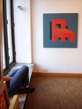Radek Zielonka : Compromise right : Acrylic on Canvas