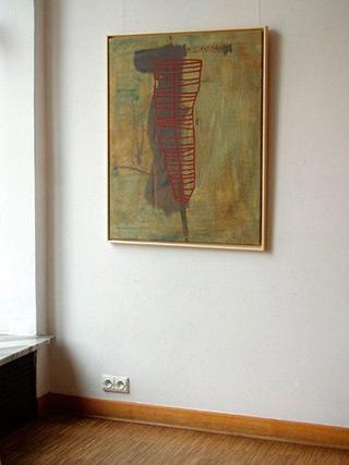 Ciro Beltrán : Desert painting : Acrylic on Canvas