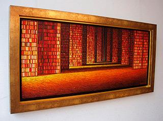Adam Patrzyk : Library : Oil on Canvas