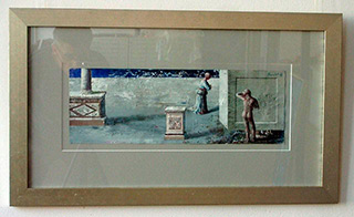 Łukasz Huculak : Escape from the Plinth : Tempera on paper