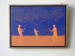 Mikołaj Kasprzyk : Jounglers : Oil on Canvas
