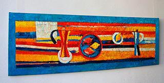 Darek Pala : Still life striped : Oil on Canvas
