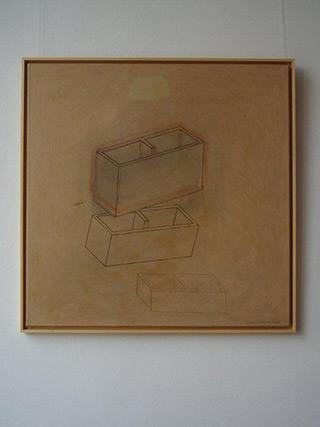 Jolanta Wagner : House no 7 : Acrylic, indian ink wax, canvas