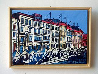 Edward Dwurnik : Little Cracow : Oil on Canvas