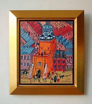 Edward Dwurnik : Lublin : Oil on Canvas