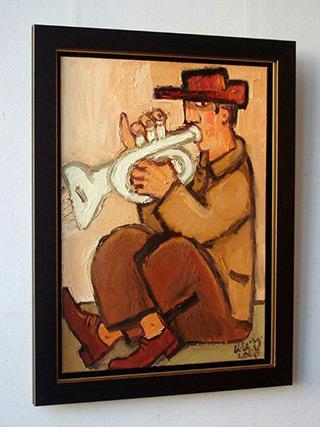 Krzysztof Kokoryn : Trumpet player : Oil on Canvas