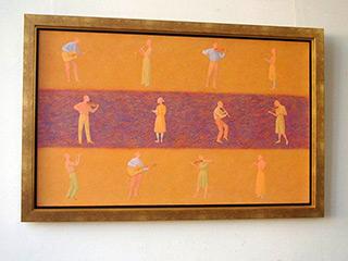 Mikołaj Kasprzyk : Musicians : Oil on Canvas