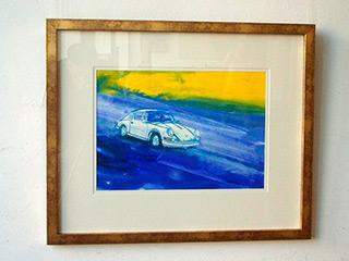 Jacek Łydżba : Porsche blue : Tempera on Paper