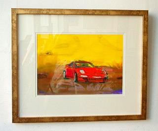 Jacek Łydżba : Porsche red : Tempera on Paper