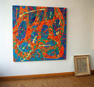 Edward Dwurnik : Abstract painting : Oil on Canvas